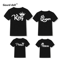 T-Shirt Family King-Queen Look Prince Baby-Girl Son Cotton Tops