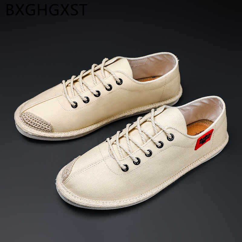 Flat Canvas Shoes Men Fashion Brand Breathable Shoes Comfort Hemp Designer 2020 Summer Shoes Men Zapatos Hombre Casual Tenis