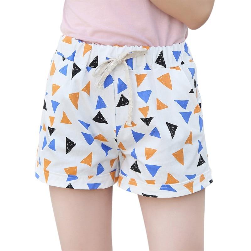 Women's Summer Elastic Waist Short Casual Drawstring Loose Wide Leg Shorts