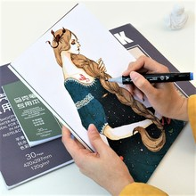 A3/A4/B5/A5 Sketch Paper Sketchbook Paper For Drawing Painting Diary Professional Notebook Notepad Stationery Art Supplies bianyo professional sketchbook notebook a3 a4 note books 11 colors office paper tracing paper pad diary drawing art sketch book