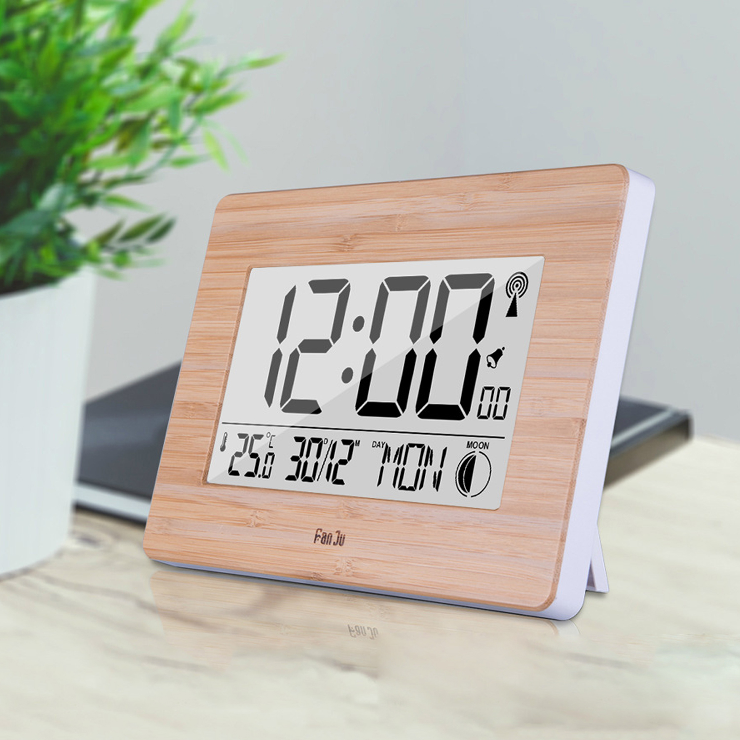 Multifunction Digital Wall Alarm Clock  LCD Big Large Number Time Temperature Calendar Table Desk Clocks For Office Home  Decor