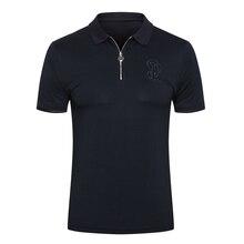 BILLIONAIRE Polo shirt Snake skin men Short sleeve shirt cotton 2021 new summer fashion Business zipper big size high quality