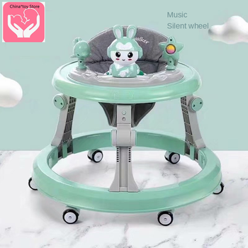 Walker Baby Baby Multi-function Anti-rollover Foldable Mute Wheel Girl Boy Anti-o-leg Children Music Without Battery new design baby walker multifunctional music plate u type folding easy anti rollover safety scooter baby walkers portable carry
