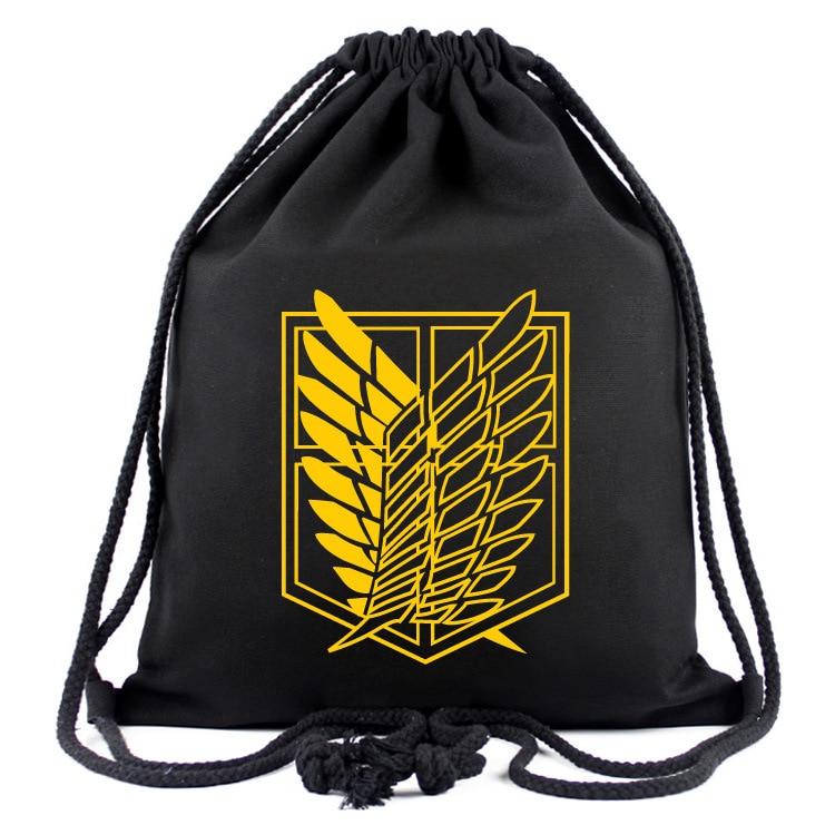 Drawstring Bag Of Anime Attack On Titan String Backpack Men Women Shoulder Bag Sports Storage Bag