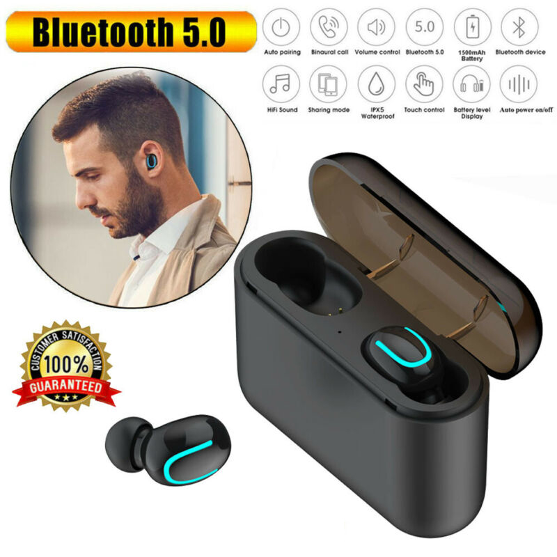 Bluetooth 5.0 Headset <font><b>TWS</b></font> Wireless Earphones Mini Earbuds Stereo Headset image