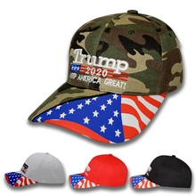 Hiking Cap Embroidered Breathable Sunshade Portable Cotton Hat Headwear Outdoor Sports Accessories US President Election Printed