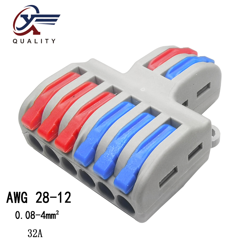 New Type 1pcs/lot Mini Fast Wire Connector Universal Wiring Cable Connector Push-in Conductor Terminal Block PCT-222 SPL-62/42