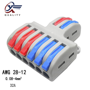 New type 1pcs/lot Mini Fast Wire Connector Universal Wiring Cable Connector Push-in Conductor Terminal Block PCT-222 SPL-62/42(China)