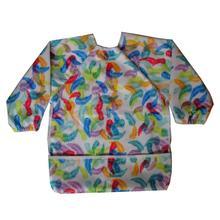 JUTESKs ребенка нагрудники/фартук/халата с длинными рукавами рубашка с карманом 1-3 лет малыша, водонепроницаемый и моющийся (1 шт.)