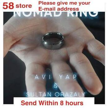 2020 Nomad Ring autorstwa Avi Yap amp Sultan Orazaly magiczne sztuczki tanie i dobre opinie Other CN (pochodzenie) Unisex Pływające MIGAJĄCE Brzmienie Rośnie Zniknięcie Nauka ŁATWE DO WYKONANIA Beginner Profesjonalne