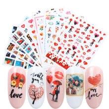 Лидер продаж 3d наклейки для ногтей на День святого Валентина