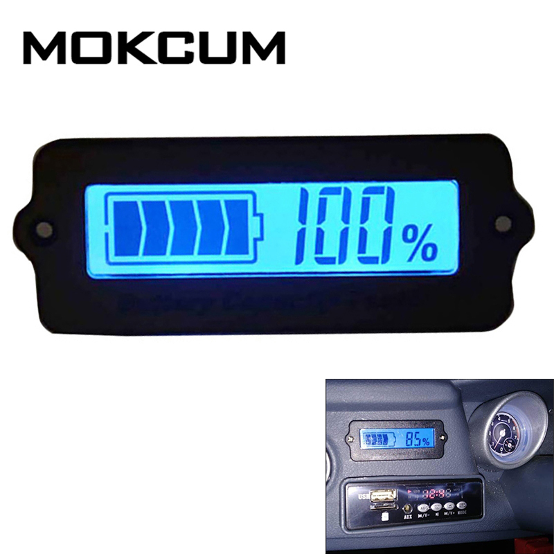 12V Battery LY6W Battery Capacity Indicator LED Leadacid Tester Voltmeter Tools