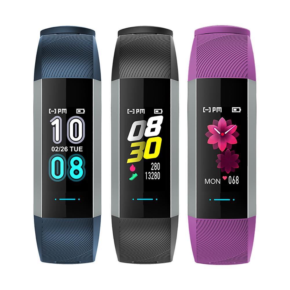 Color screen smart bracelet waterproof fitness bracelet heart rate blood pressure health sports management
