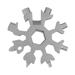 18 in 1 Snowflake Multi Pocket Tool Keyring Key Ring Spanner Hex Wrench Multifunction Camp Survive Tools Outdoor Hike Accessory