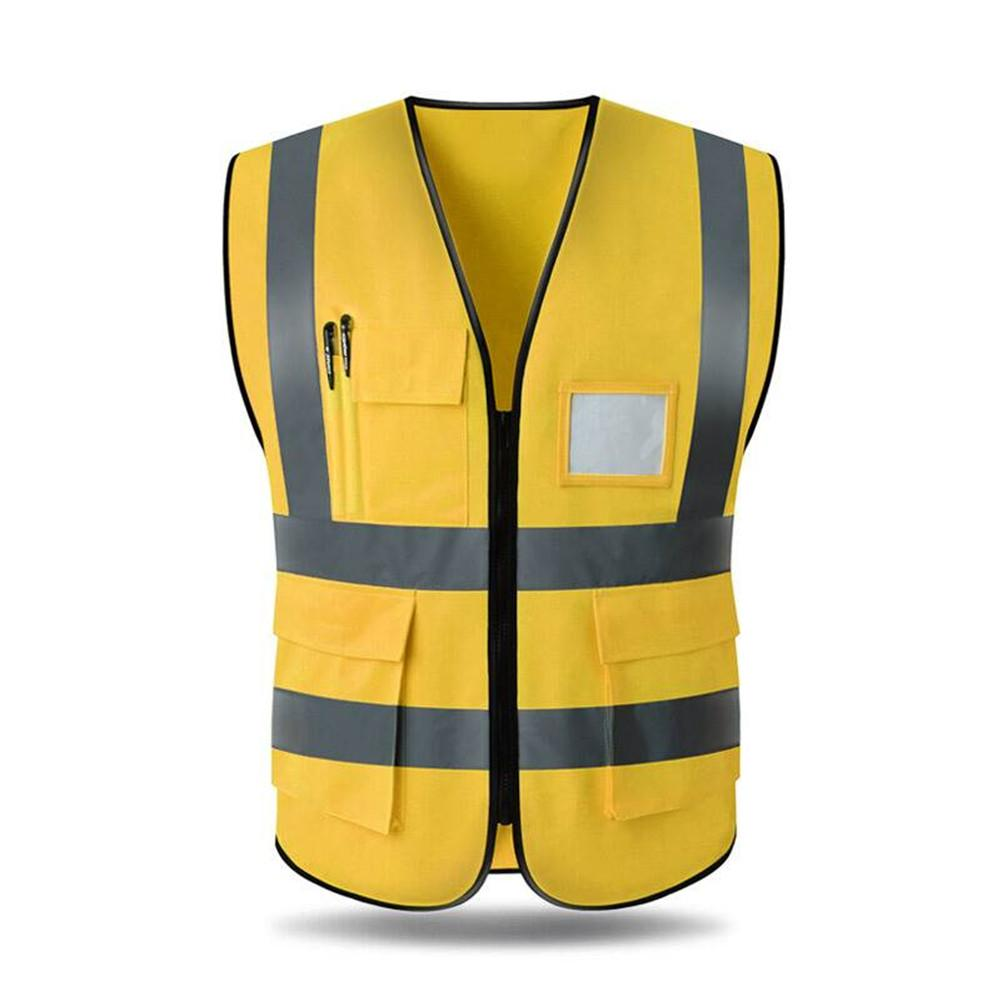 Hi Viz Vest High Vis Safety Visibility Waistcoat Outdoor Night Sport Jacket Top
