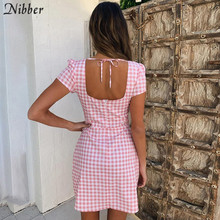Nibber summer Bandage Bodycon mini Dress women Lattice Halter Sexy Club Party ladies dress2019 beach Casual vacation short Dress