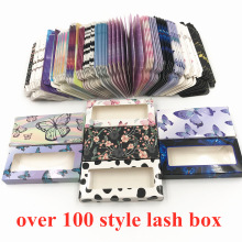 Оптовая продажа 50/100 шт бумага накладные ресницы упаковочная коробка для ресниц коробки упаковки изготовленным на заказ логосом faux cils с фок...