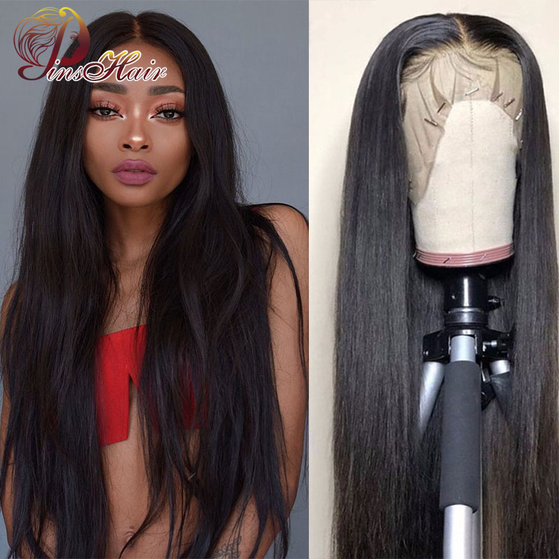 Lace Front Human Hair Wigs Natural Color Pre Plucked 8-26