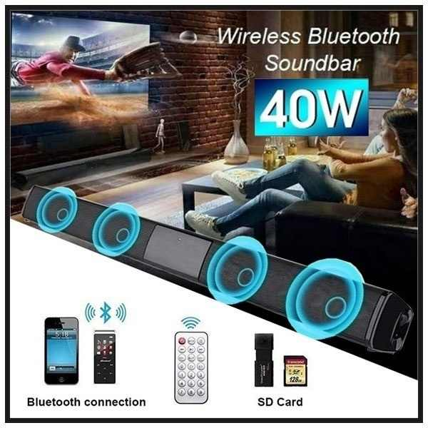 Best Suono Subwoofer Vivavoce Senza Fili di Bluetooth Portable Speaker Surround Sound Stereo Esterno USB/AUX/TF Card per il Telefono PC