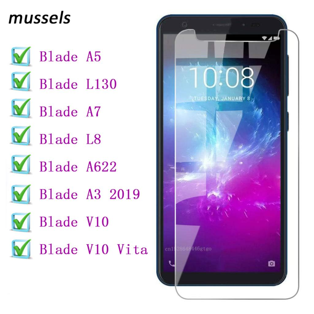 For ZTE Blade L8 A5 L130 A7 A3 2019 A622 Screen Tempered Glass Screen Protector Bubble Free Protective Film ZTE Blade V10 Vita
