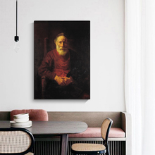 Citon Canvas Rembrandt《An Old Man in Red》Art Oil painting Artwork Poster Picture Modern Wall decor Home Living room Decoration woman seated in an armchair by picasso canvas painting print living room home decor modern wall art oil painting poster artwork