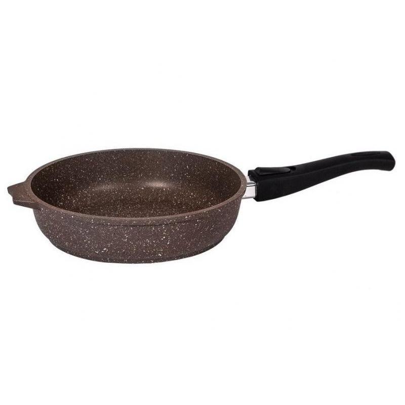Frying Pan Dream, Granite, Brown, 22 cm, detachable handle baking tray dream granite 33 22 cm