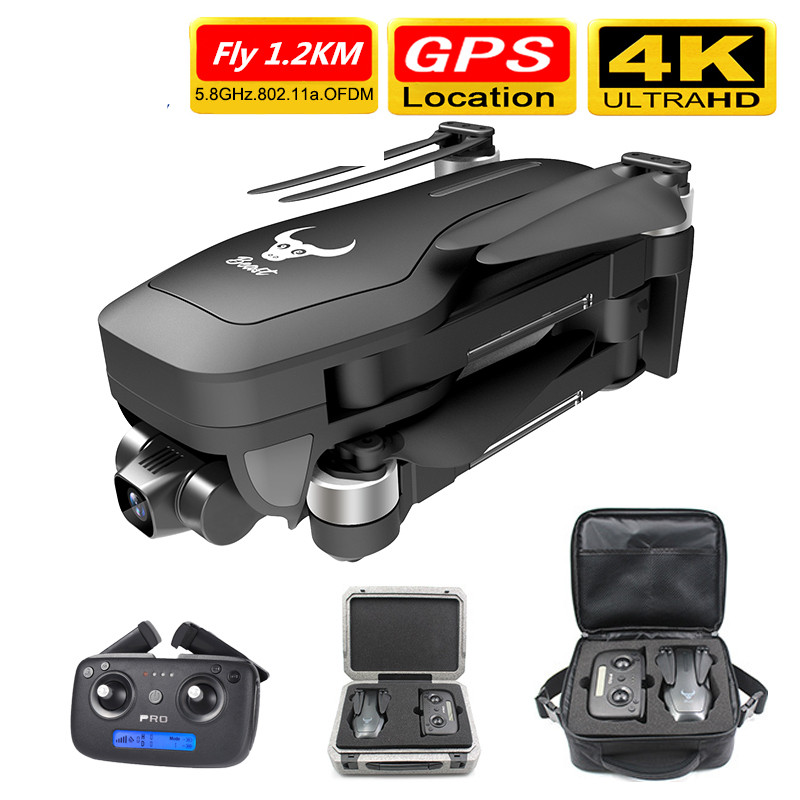 Smart Pro <font><b>GPS</b></font> <font><b>Drone</b></font> with Wifi FPV 4K HD Camera Two-axis anti-shake Self-stabilizing Gimbal Brushless Quadcopter Fly 1.2KM image