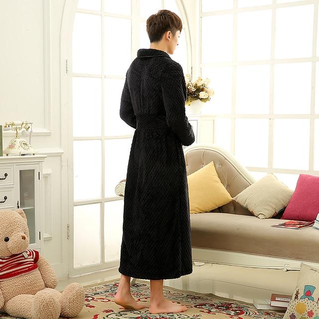 Thick Warm Unisex Winter Flannel Bathrobe  3