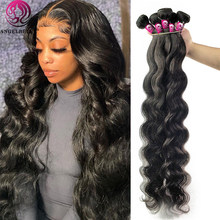 Angelbella Brazilian Body Wave Human Hair Bundles 30 Inch Body Wave Hair Extension 1/3/4 Bundles Brazilian Remy Hair For Women