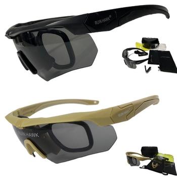 Gafas tácticas con montura Moypia para deportes al aire libre, gafas de caza para Airsoft, militares, para senderismo
