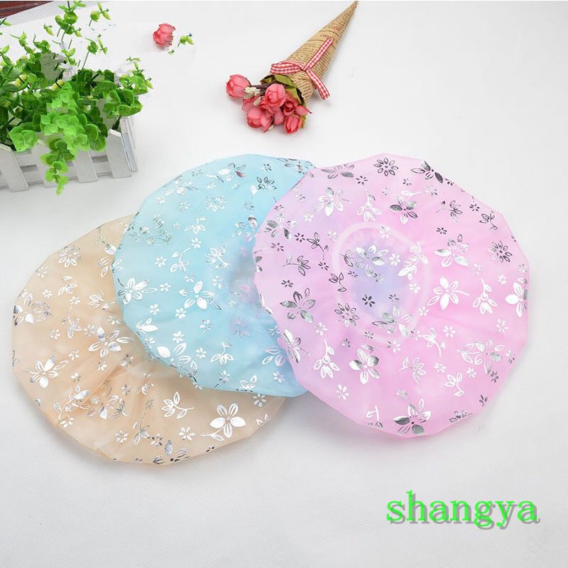 Shangya New Ladies Shower Cap Waterproof Thickened Bronzing Shower Cap Beauty Cap Kitchen Anti-smoke Cap Bathroom Shower Cap