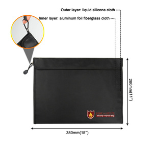 Image 5 - 내화성 문서 가방 방수 내화성 파우치 파일 돈 문서 SP99