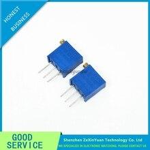 100PCS 3296 3296X Series resistanceohm Trimpot Trimmer Potentiometer 1K 2K 5K 10K 20K 50K 100K 200K 500K 1M OHM 100R 200R 500R
