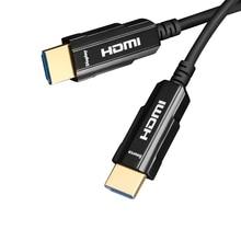 Optical fiber HDMI cable 4k HD computer TV notebook connected projector display HDR signal conversion line цена и фото