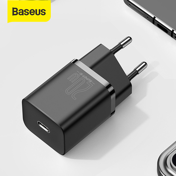 Baseus Super Si USB C Charger 20W Support Type C PD Fast Charging Portable Phone Charger For iPhone 12 Pro Max 11 Mini 8 Plus