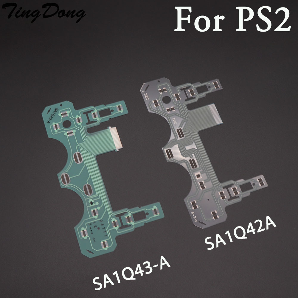 2pcs Replacement Button Ribbon Circuit Board For Sony PS2 SA1Q42A SA1Q43-A Controller Conductive Film Keypad Flex Cable PCB
