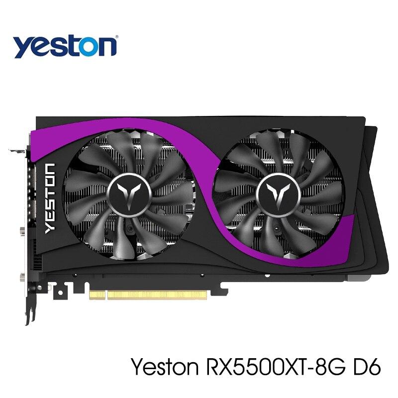 New Yeston Radeon RX 5500 XT GPU 8GB GDDR6 128bit 7nm Gaming Desktop computer PC Video Graphics Cards support DP/HDMI/DVI D|Graphics Cards| - AliExpress