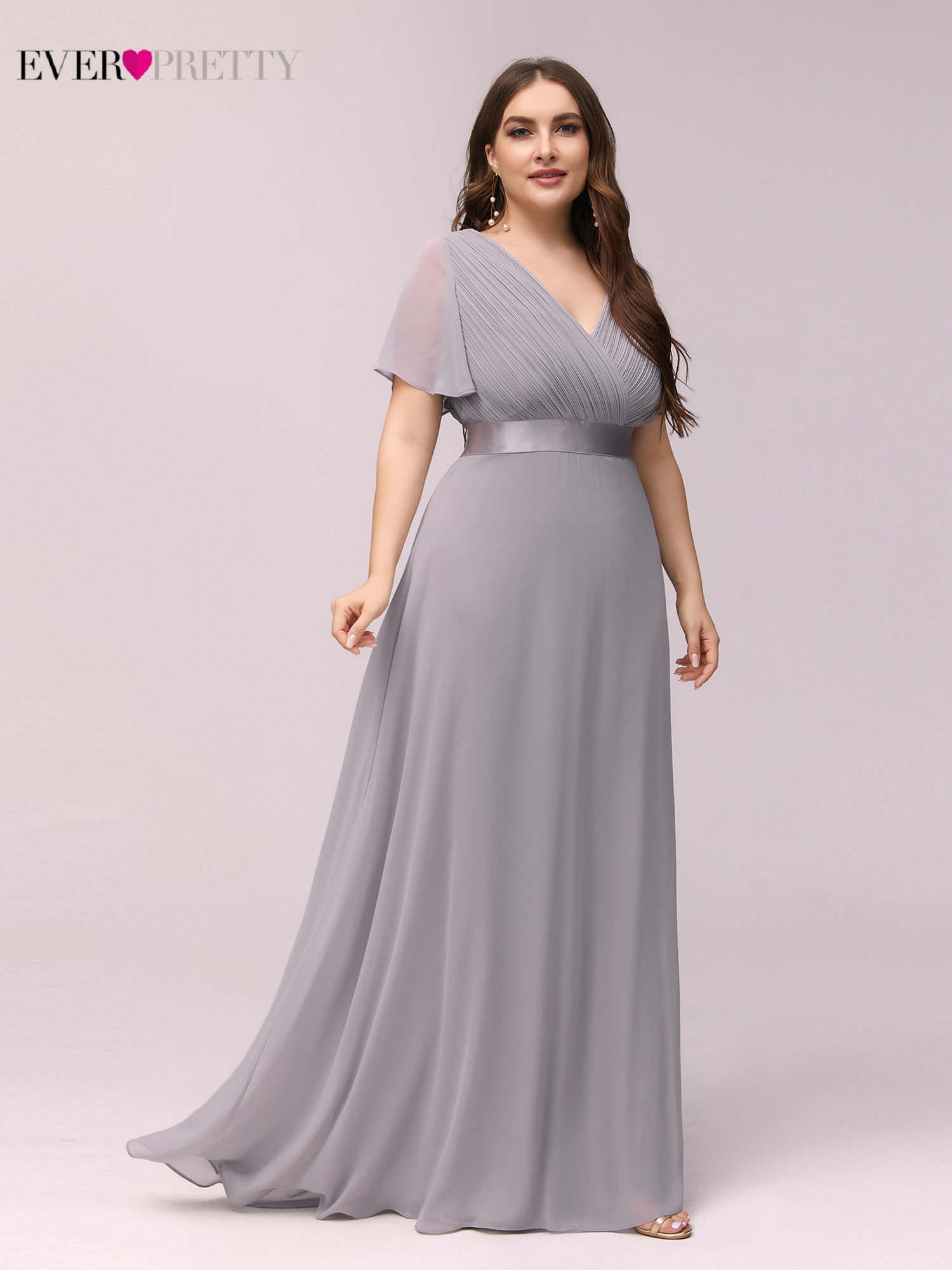 Party-Dress Evening-Dresses Robe-De-Soiree Ever Pretty Chiffon Formal Elegant Ruffles