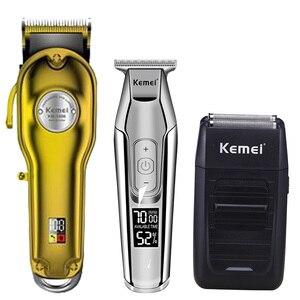 Image 4 - Kemei hair clipper electric hair trimmer barber hair cutter mower hair cutting machine kit combo KM 1987 KM 1986 KM 5027 KM 1102