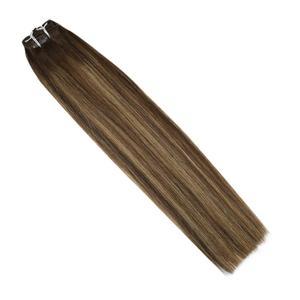 Волосы для наращивания VeSunny, натуральные волосы на заколках, 7 шт., 120 гр, балаяж, коричневый, Микс, карамельный блонд, #4/27/4