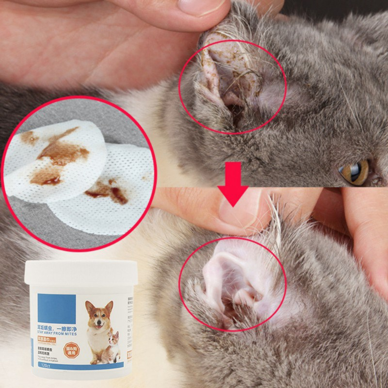 120PCS/Set Pet Eye Wet Wipes Cleaning Wipes Grooming Cleaning Paper Towels Cat Dog Tear Stain Remover