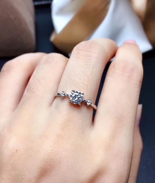 Moissanite rings color D VVS1 GRA certificate Black card 925silver Simple lady resizable rings for women 4