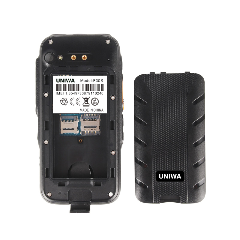 UNIWA F30S Dual Version Zello Walkie Talkie Smartphone FDD-LTE 4G GPS 1GB+8GB Android 8.1 Quad Core Dual Camera Mobile Phone