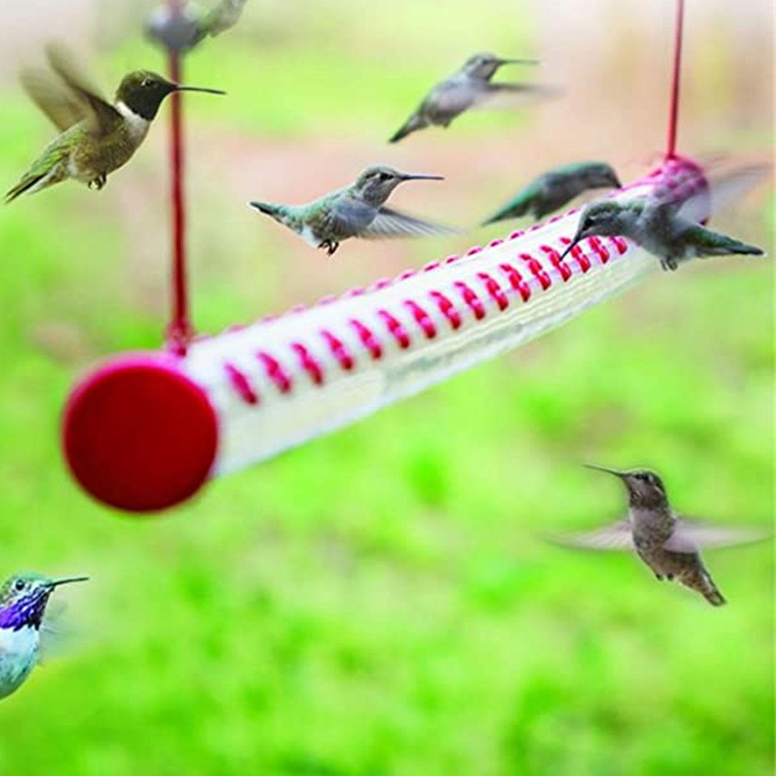 Hummingbird Feeder With Hole Birds Feeding Transparent Pipe Easy To Use Household Garden Feeding Supplies