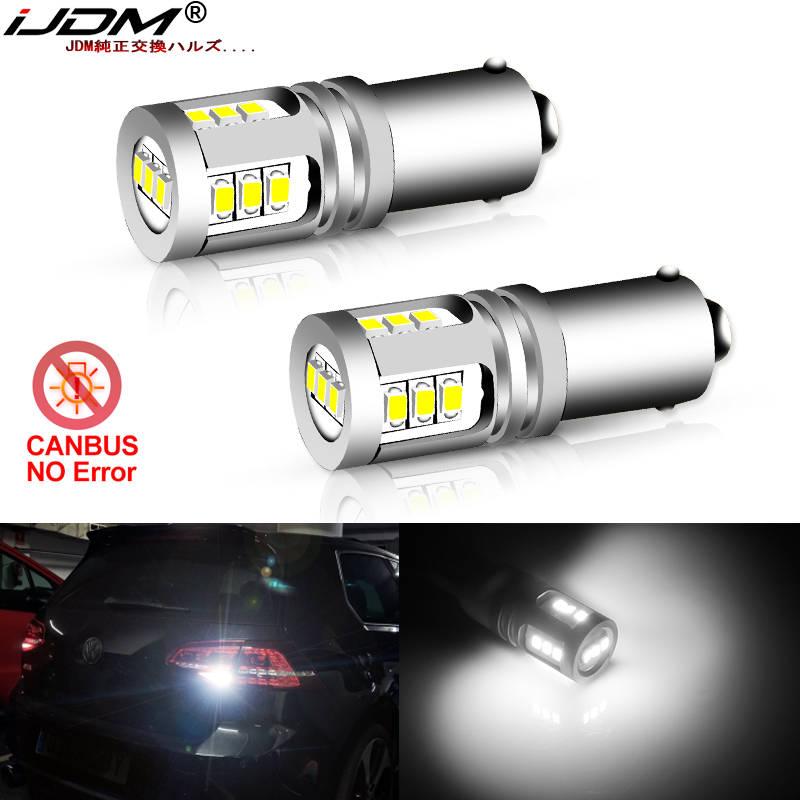 IJDM Xenon Error Free White Bay9s H21W 64136 LED Bulbs For Volkswagen VW Golf MK7 GTD GTI R TSI LED Backup Reverse Lights 12-24V
