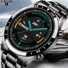 LIGE nowy inteligentny zegarek dla mężczyzn tętno ciśnienie krwi IP68 wodoodporna Fitness sportowy zegarek luksusowy zegarek inteligentny zegarek męski dla iOS Android tanie tanio CN (pochodzenie) Na nadgarstek Zgodna ze wszystkimi 128 MB Krokomierz Rejestrator aktywności fizycznej Rejestrator snu