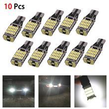 цена на 10Pcs 6000K White 45 SMD 4014 Error Free LED T15 W16W Car Reverse Back Light Bulb Auto Additional Lamp Car Daytime Running Light