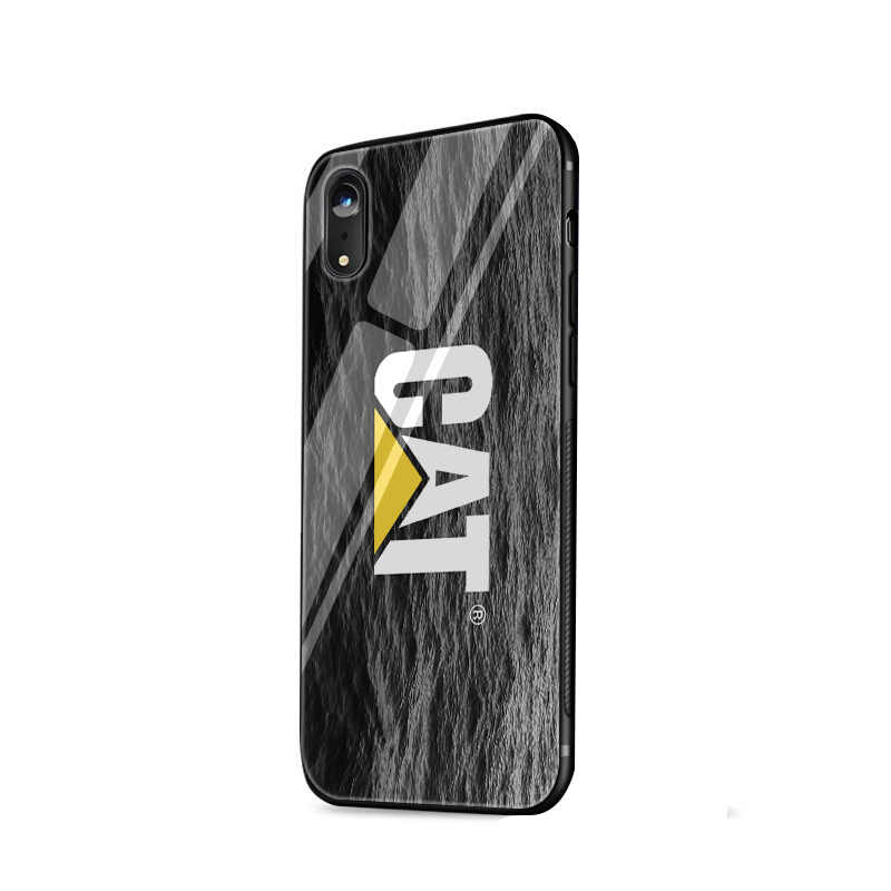 Desxz Sâu Bướm Logo Dễ Thương Kính Ốp Lưng Điện Thoại Cho iPhone 5 5S SE 6 6 S 7 8 Plus XR X XS Max Bao Da Bảo Vệ