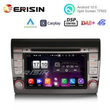 Car DVD Erisin Android 10.0 Fiat Bravo Carplay Auto Px5 Dsp 4G for GPS DAB DAB