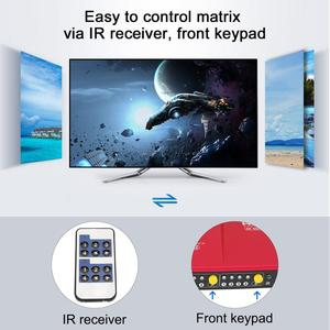 Image 3 - 4K HDMI Matrix 4x2 HDMI Switcher Splitter 4 Ports Input and 2 Ports Output with Analog Stereo(SPDIF) Support 4Kx2K@60HZ HDCP